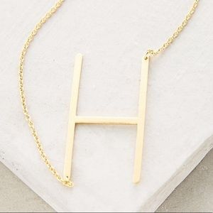 Anthropologie H Necklace